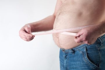 weight loss hypnotherapy Paisley page, image of a mans stomach