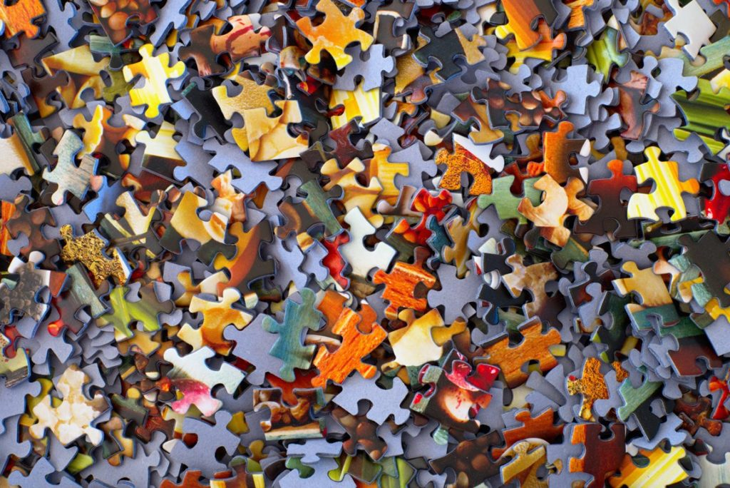 photo on confidence page of a jigsaw