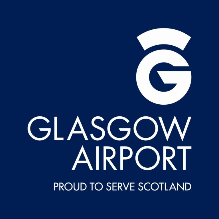 glasgow airport logo on mindfulness traing page